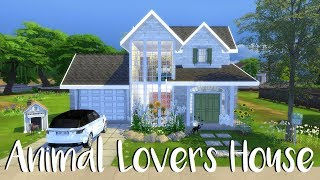 The Sims 4: Speed Build/ ANIMAL LOVERS HOUSE + CC Links