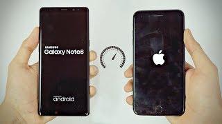 Samsung Galaxy Note 8 vs iPhone 7 Plus - Speed Test! (4K)