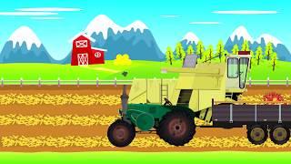 Old Tractor and Combine Harvester for Kids   traction-engine   Stary Traktor Bajka Dla Dzieci 😀