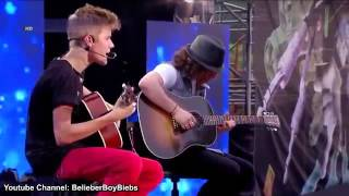 Justin Bieber   One Time Acoustic)   MTV World Stage Live High Definition