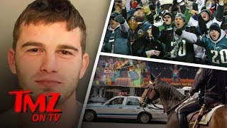 Eagles Fan Punches A Police Horse After Getting Thrown Out! | TMZ TV