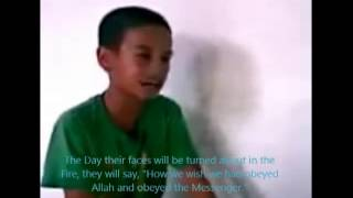 Surah Al Ahzab recited by a Filipino Young Boy