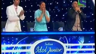 NITHYASHREE Performance in eena meena deeka song Indian idol junior 2015