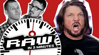 WWE RAW in 3 MINUTES 5/16/16 | AJ Styles & The Club vs. Roman Reigns & The Usos