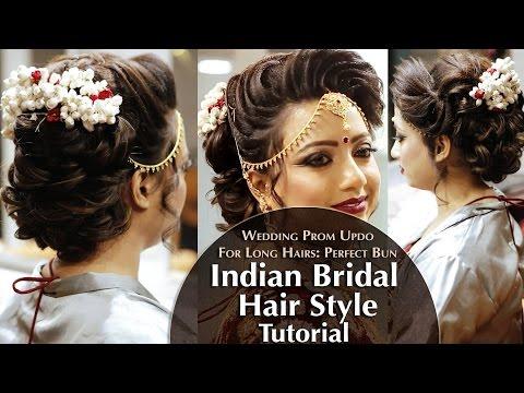 Xxx Mp4 Indian Bridal Hair Style Perfect Long Hair Bun Tutorial Krushhh By Konica 3gp Sex