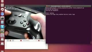 Touch typing for a steam controller