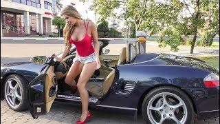 Sexy Young Model Enjoys Porsche Ride in Minsk, Belarus