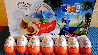 RIO 2 Movie 12 Kinder Surprise Eggs + Toys to Collect in Europe Unboxing