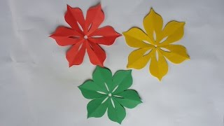 How to cut a 6 petal designed  flower Easy Way !! Make your Own Origami Flower