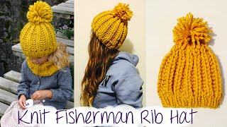 Download HOW TO KNIT FAST AND EASY CHUNKY RIBBED HAT 3Gp Mp4
