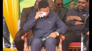 Waziri Mkuu, Waziri Nape walivyoshindwa kujizuia na kumwaga machozi mazishi ya Samuel Sitta