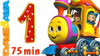 Numbers Song Collection | Number Train 1 to 10 | Counting Songs and Numbers Songs from Dave and Ava