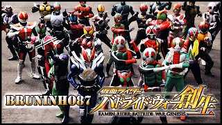 [PS4] Kamen Rider: Battride War Genesis | Special Attack + All Kamen Rider Henshin TV
