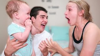 FATHER AND SON SURPRISE MOM! PREGNANCY ANNOUNCEMENT!!!