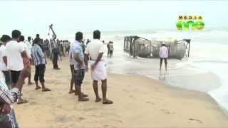 Container Vessel Driven Ashore In Kasaragod