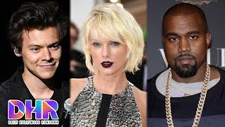 Harry Styles TEASES Taylor Swift Song - Swifties BANNED from Kanye West App - (DHR)