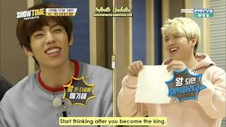 [ENG-SUB] 160114 MBC INFINITE Showtime Ep. 6 (Part 1 of 2)