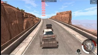 BeamNG-drive - Scenarios - Transport Jeep - Gameplay FHD