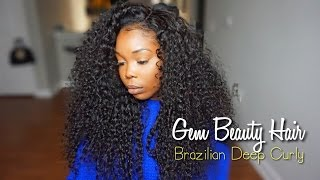 Gem Beauty Hair | Brazilian Deep Curly | Aliexpress + Can It Be Straightened?
