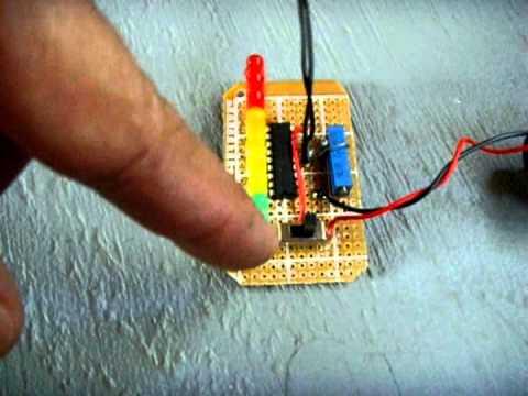 LED Temperature Indicator Circuit - LM3914