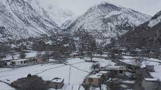 4K DRONE FILM || CINEMATIC FOOTAGE OF SNOW COVERED CHAPROTE VALLEY || GILGIT BALTISTAN