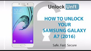 HOW TO UNLOCK Samsung Galaxy A7 (2016)