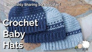 Crochet Baby Hats Scrapbuster