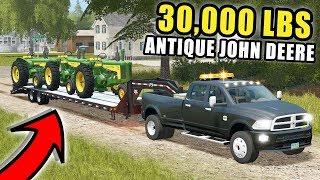 THE CUMMINS FIRST LOAD! TRUCKING ANTIQUE JOHN DEERE 720, 620 | FARMING SIMULATOR 2017