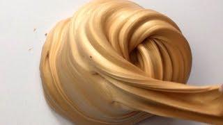 How To Make Golden Giant Soft Fluffy Slime ♡ DIY Stretchy Golden Softy Slime! ASMR Slime!