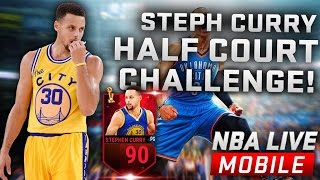 NBA Live Mobile - Steph Curry Half Court Challenge - Steph Curry Gameplay