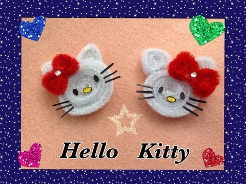 HELLO KITTY HECHO CON LIMPIA PIPAS. PIPE CLEANER HELLO KITTY .