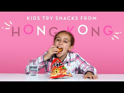 Kids Try Snacks from Hong Kong Kids Try HiHo Kids