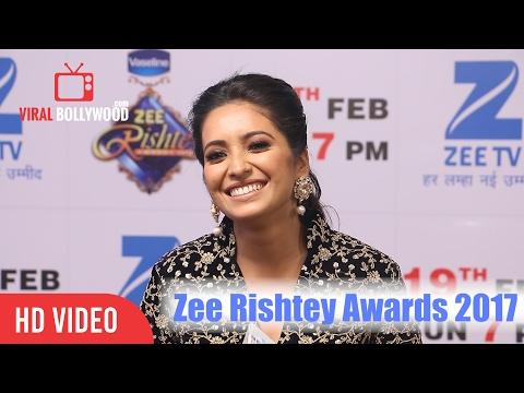 Asha Negi At Zee Rishtey Awards 2017 |  Zee Tv | Viralbollywood