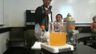 The color changing chemical reaction