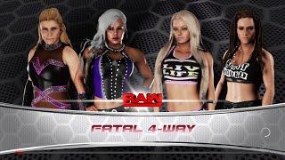 WWE 2K18 - Natalya VS Dana Brooke VS Liv Morgan VS Sarah Logan