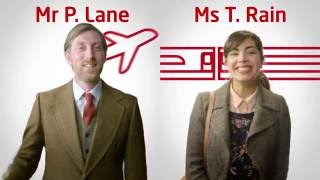 Train vs Plane - follow Mr P. Lane & Ms T. Rain on their journeys between London & Scotland