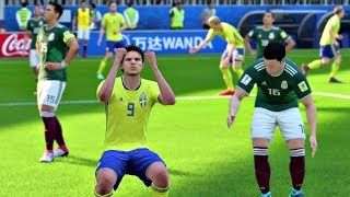 World Cup 2018 - Mexico vs Sweden - Group F Full Match Sim (World Cup 2018 FIFA 18)