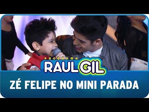 Programa Raul Gil 30 05 15 Zé Felipe no Mini Parada