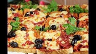 فطور صباحي سهل وسريع واكيد لذيذ بيتزا التوست السريعة مع رباح محمد ( الحلقة 424 )