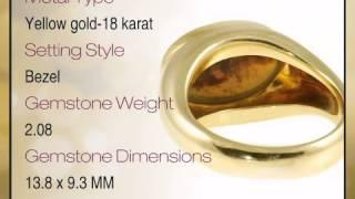 Handmade Custom Black Opal ring - Smooth and Modern 18kt Gold Band - africagems.com