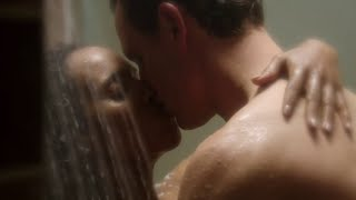 Scandal 4x10 Olivia and Fitz Hot Shower Kiss Scene