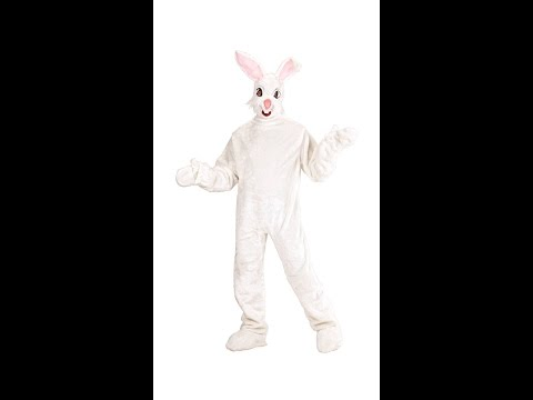 2751Y BUNNY plush costume gloves shoe covers mask