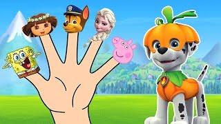 Paw Patrol Finger Family Song - Dora the Explorer & Elsa - Daddy Finger Nursery Rhymes
