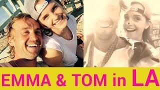 Emma Watson reunites with Tom Felton in LA
