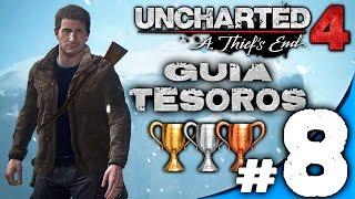 GUIA UNCHARTED 4 CAPITULO #8 / LA TUMBA DE HENRY AVERY / LET´S PLAY TROFEOS TESOROS ESPAÑOL
