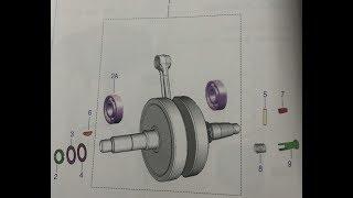 Internal Working of Motor Bike Crankshaft || How oil reaches in Crankshaft