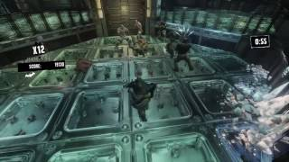 Batman: Return to Arkham Asylum Shok and Awe challenge map as Batman