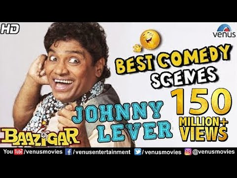 Johnny Lever - Best Comedy Scenes | Bollywood Comedy Movies | Hindi Movies | Baazigar Comedy Scenes