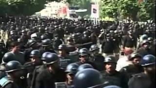 Protest Agaisnt Death sentence for Mumtaz Qadri - Lahore - Report by Omni News