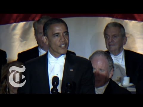 Election 2012 Obama Jokes at the Al Smith Dinner The New York Times